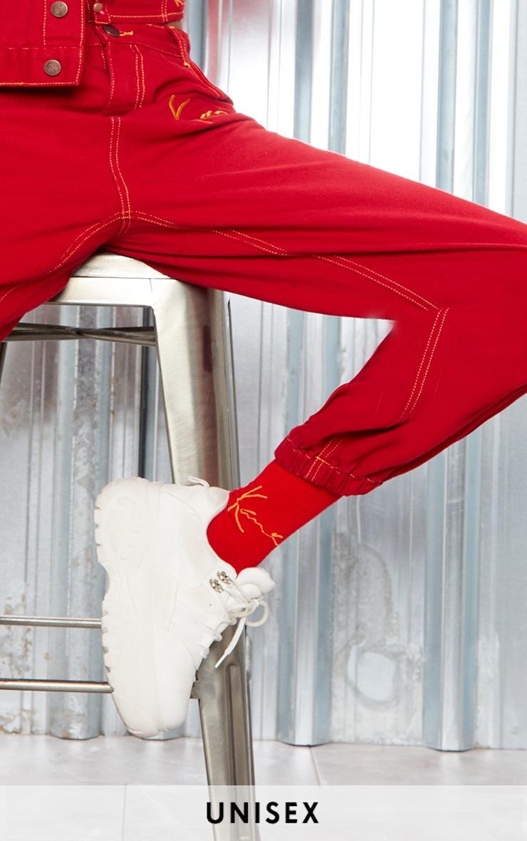 KARL KANI Red Socks 1