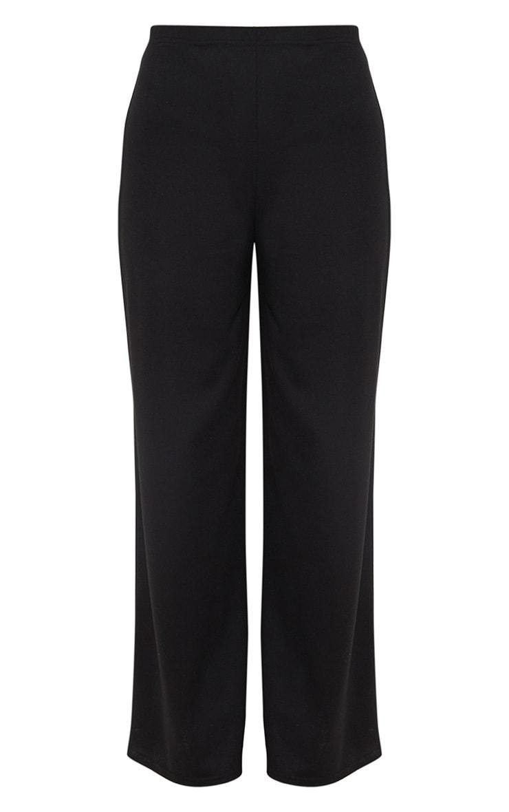 Black Sweat Wide Leg Trousers  3