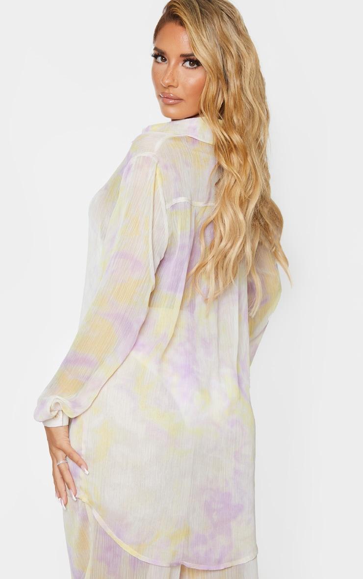 Lilac Tie Dye Chiffon Shirt 3