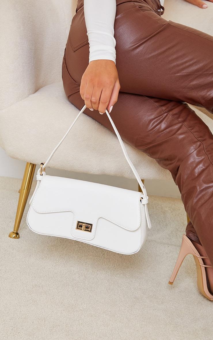 White Envelope Shoulder Bag 1