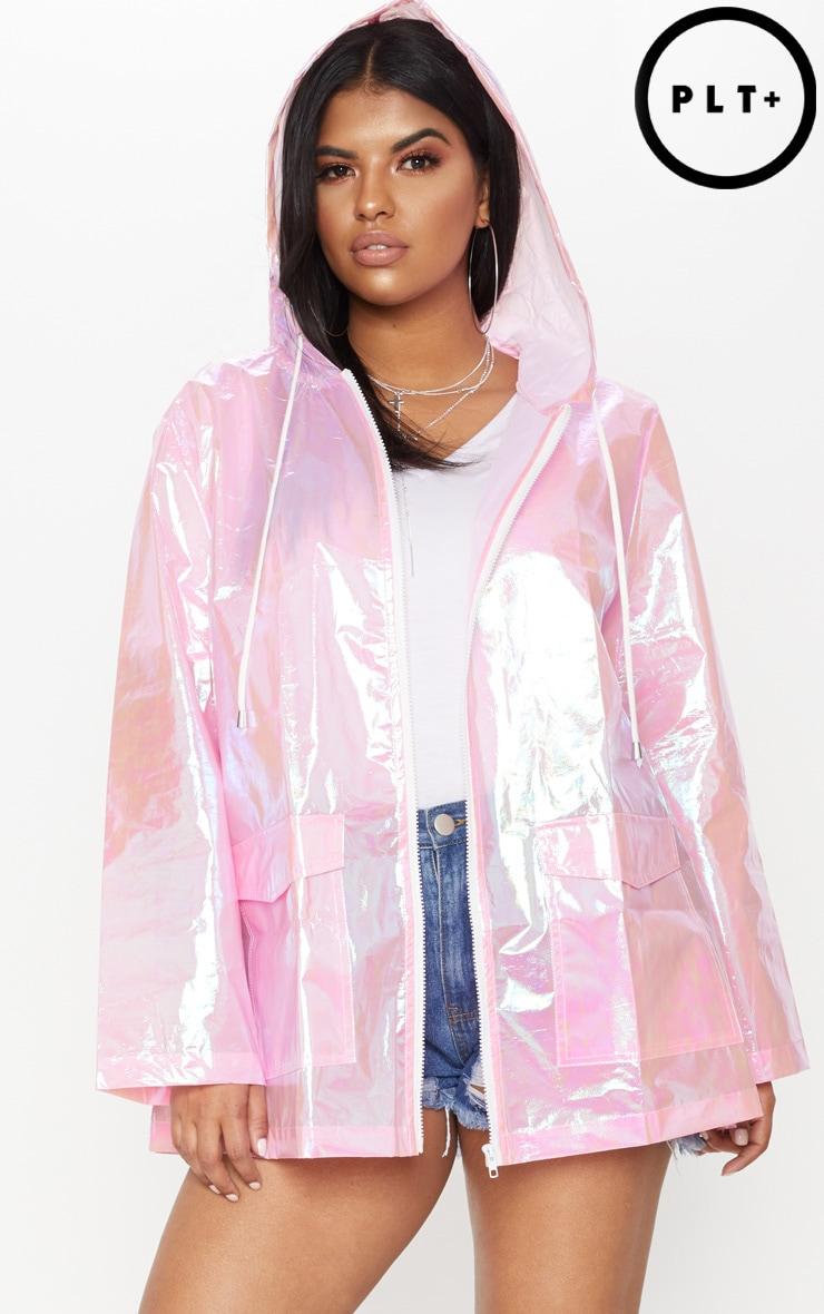 448db070cf0 Plus Pink Holographic Rain Mac image 1