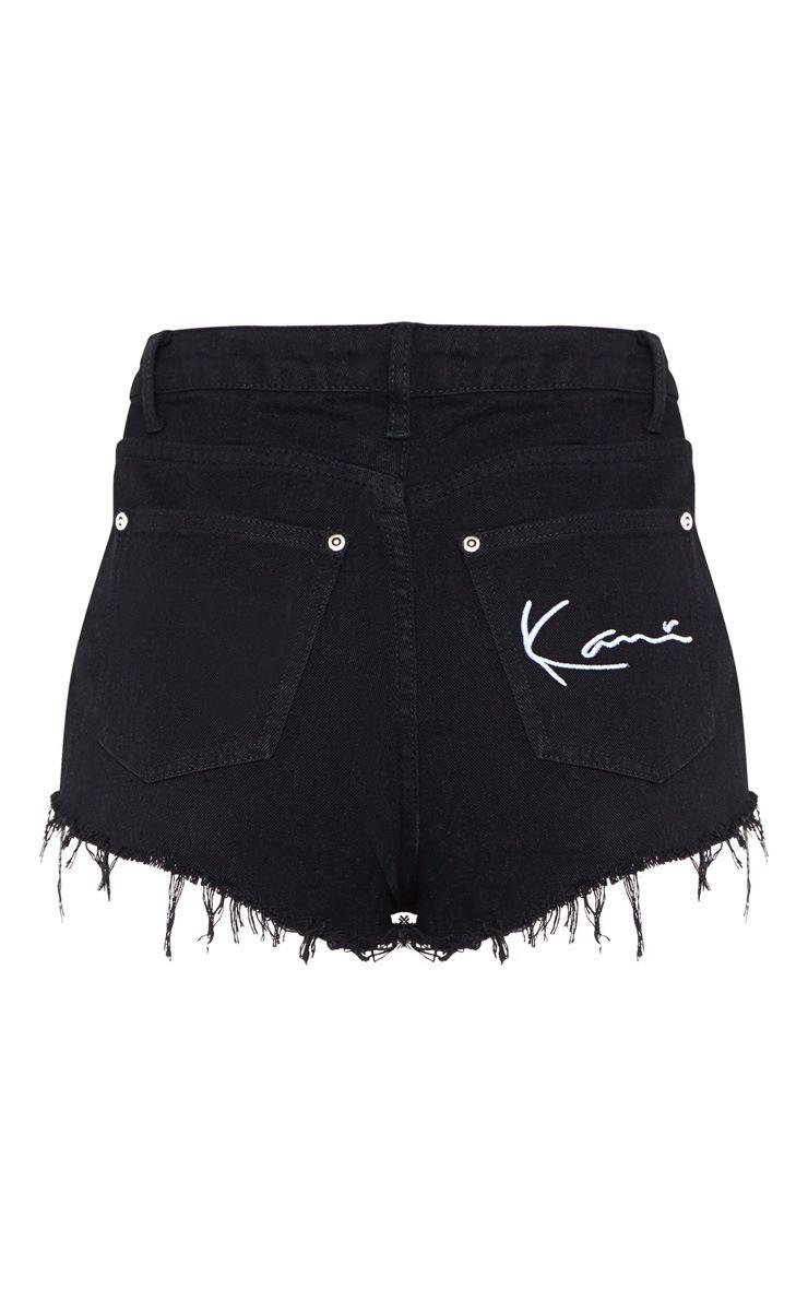 KARL KANI Black Denim Shorts 5