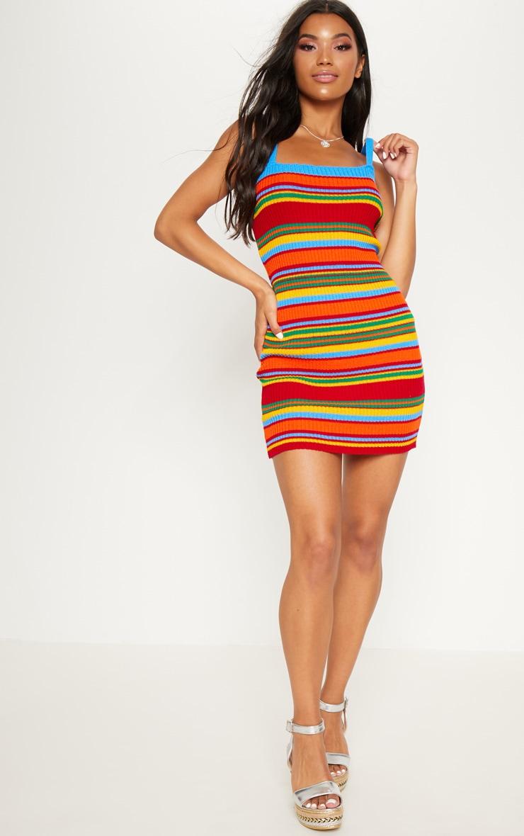 Blue Striped Dress 4