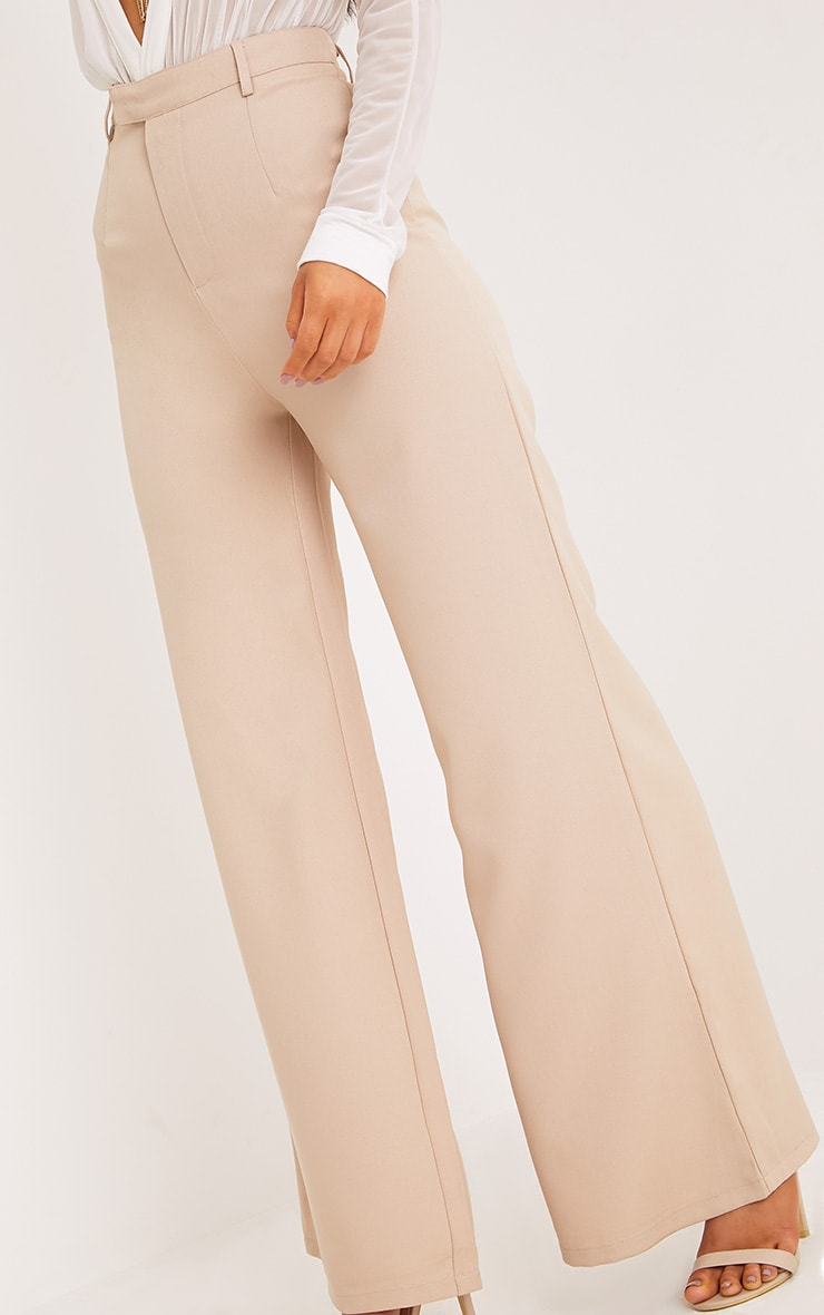 Reemah Stone Wide Leg Trousers  4
