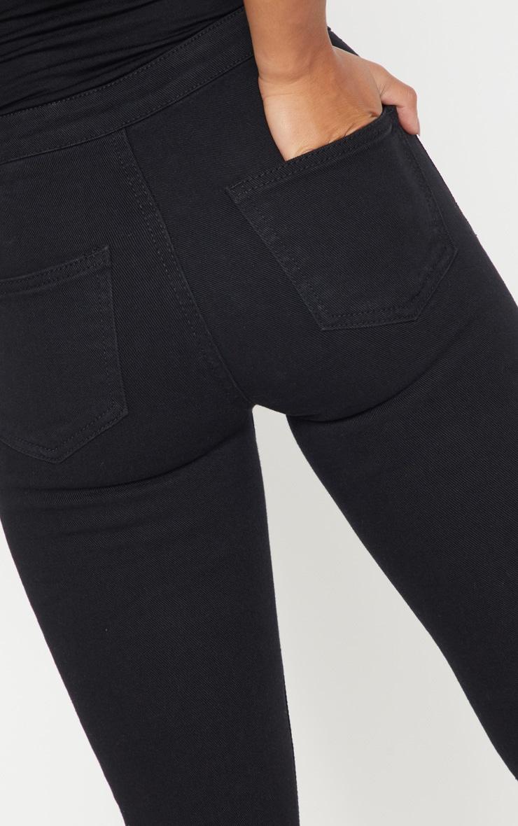Petite Black High Rise Skinny Jeans 6