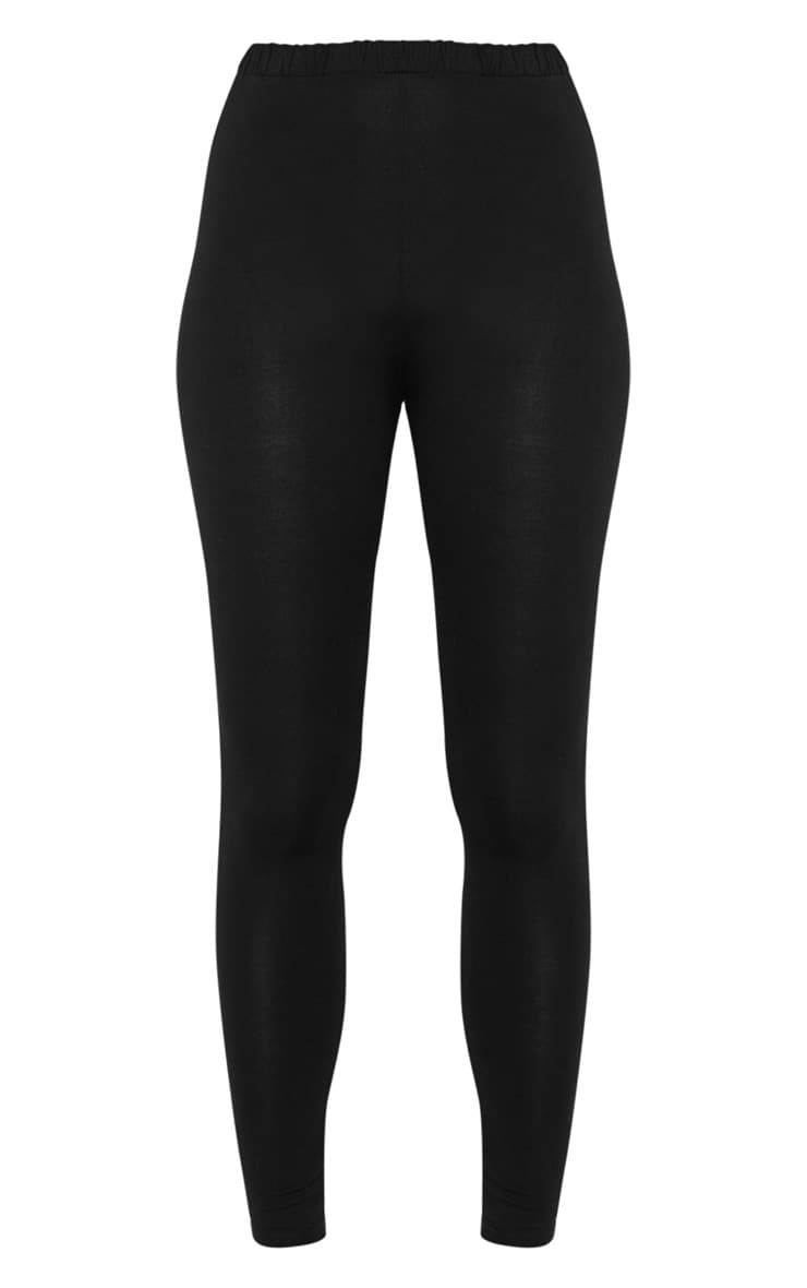 Black Ruched Back Jersey Leggings 3