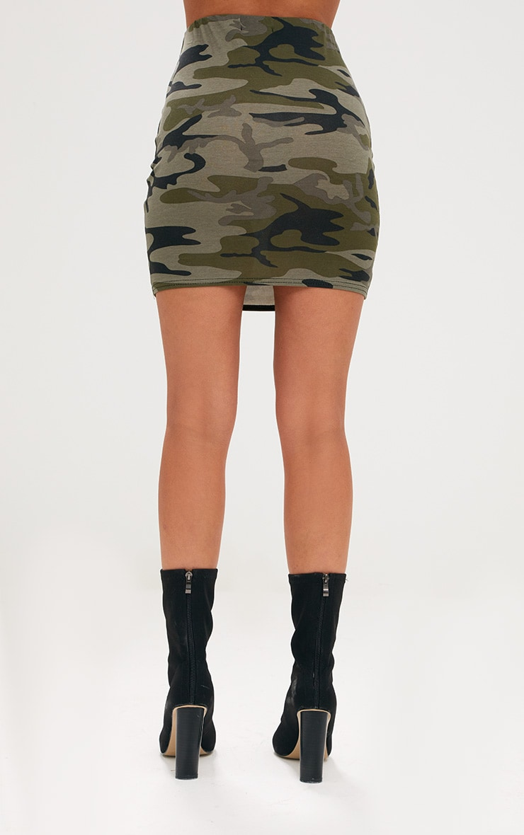 Khaki Camo Mini Skirt 4