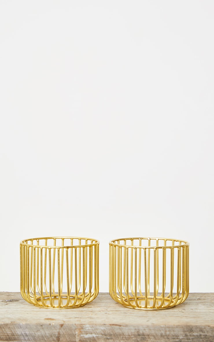 Gold 2 Pack Wire Basket 4