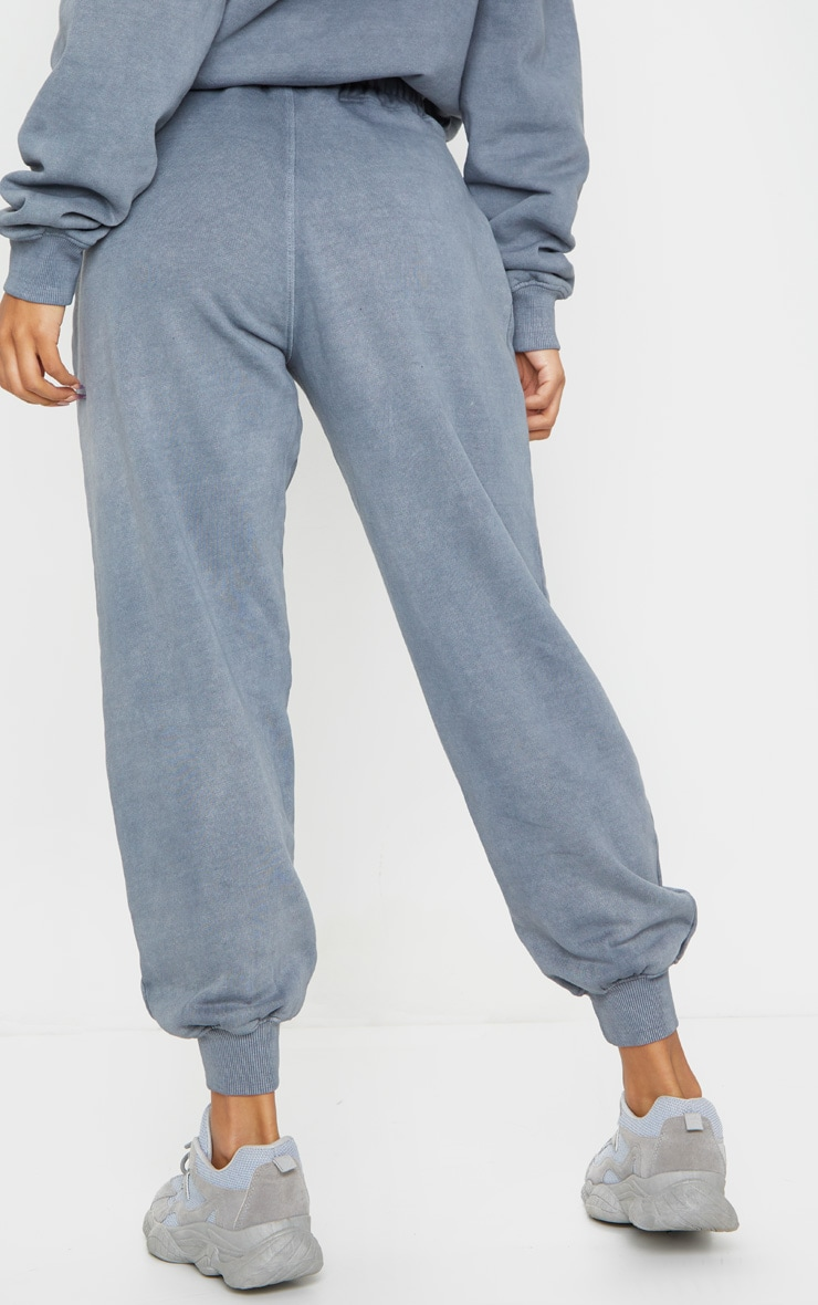 Charcoal Grey Washed High Waist Joggers 3