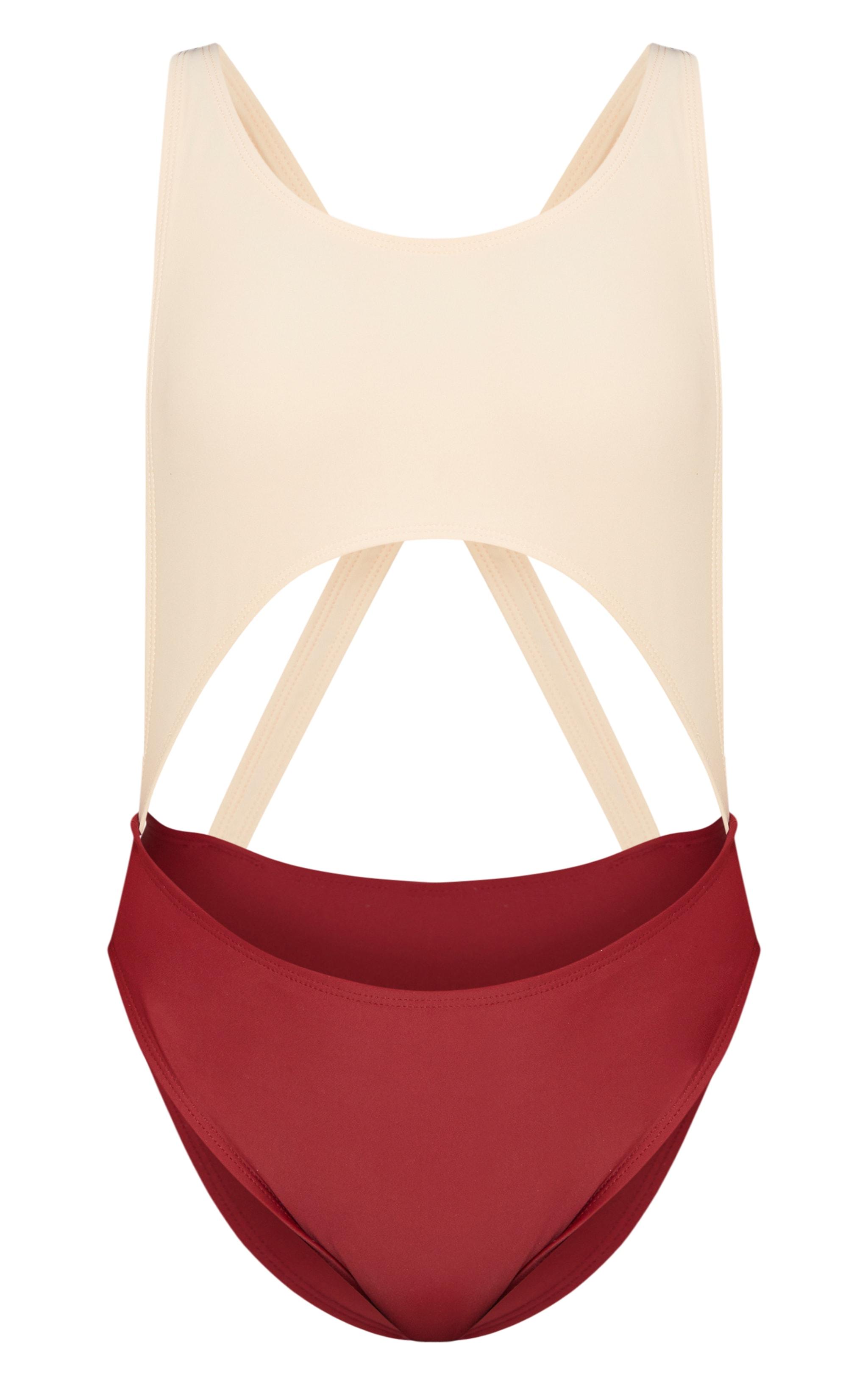 Petite Nude Cut Out Swimsuit 3