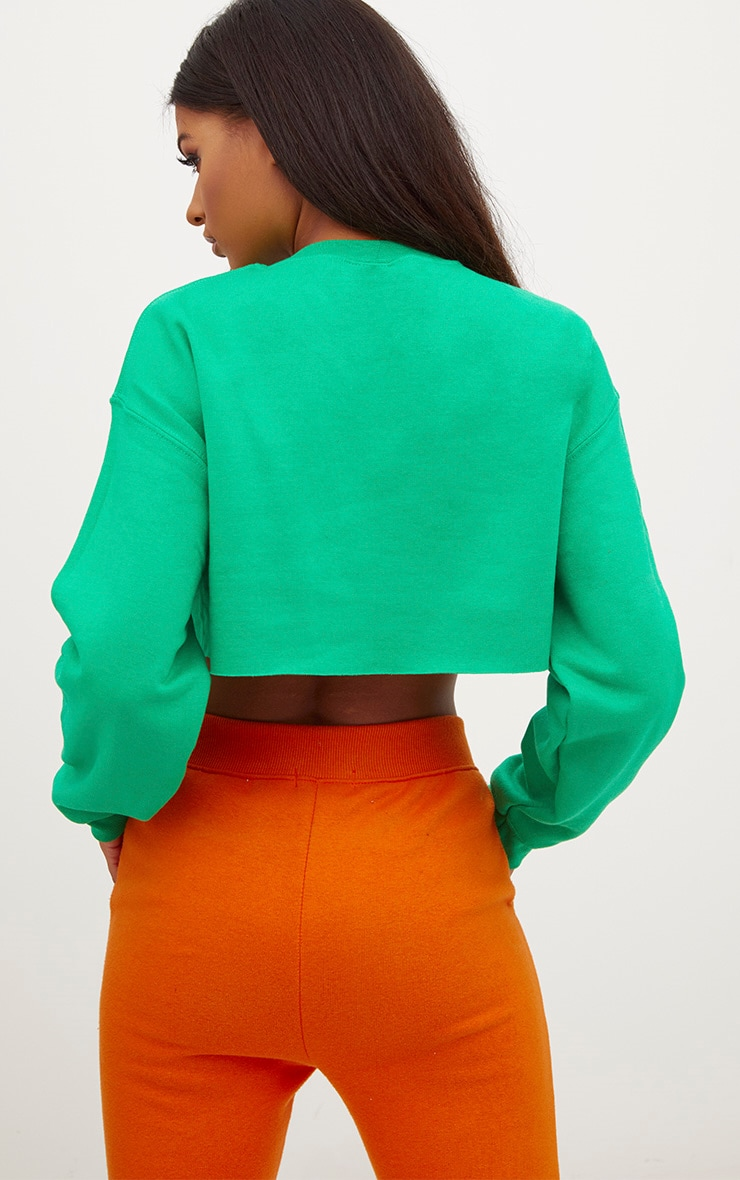 Jade Green Ultimate Cropped Sweater 2