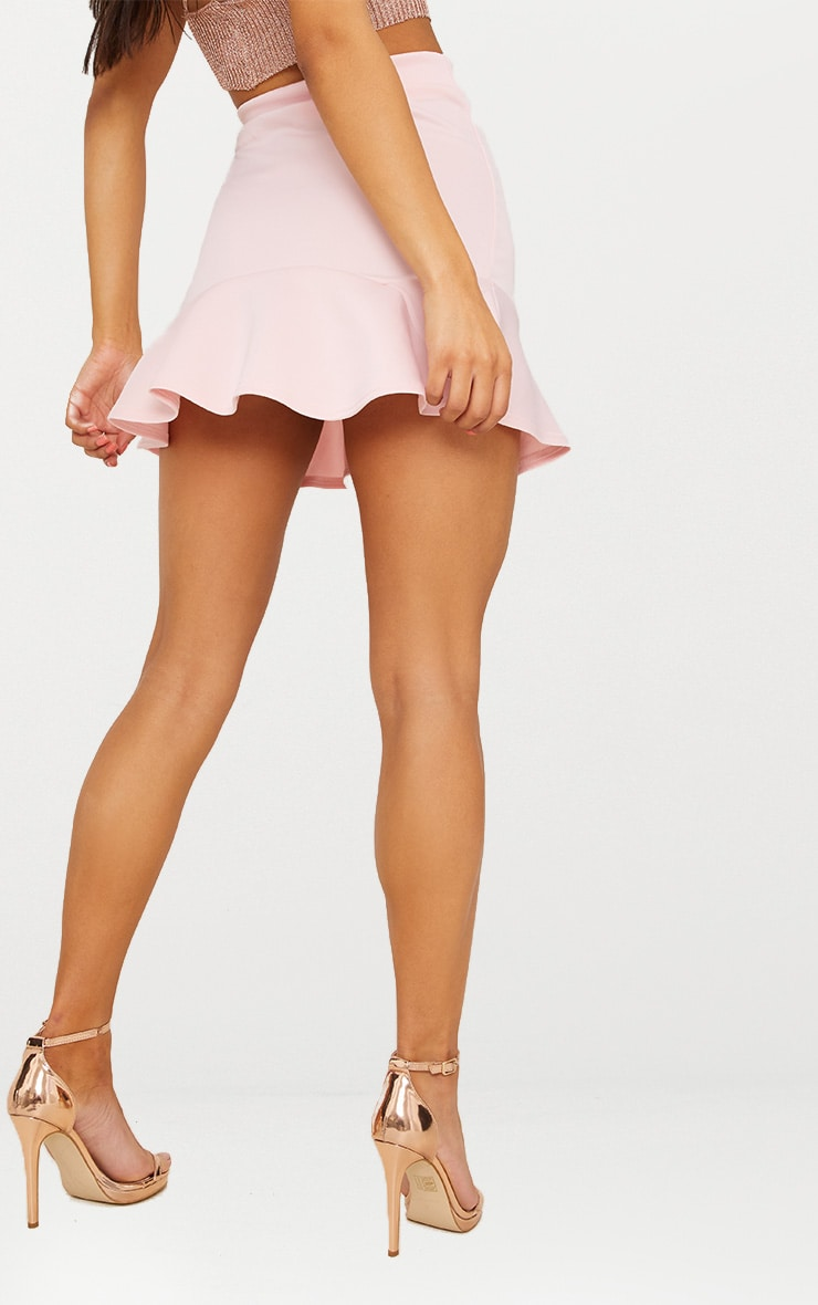 Pale Pink Flippy Hem Mini Skirt 4