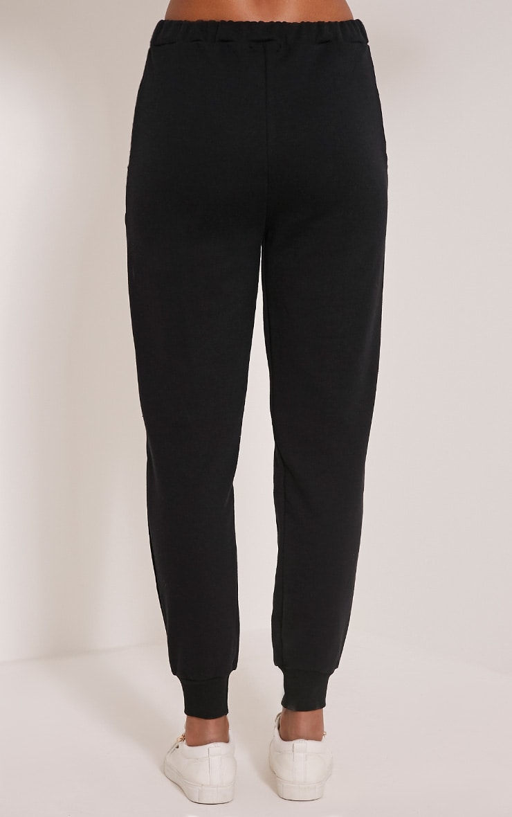 Ellia Black Basic Joggers 5