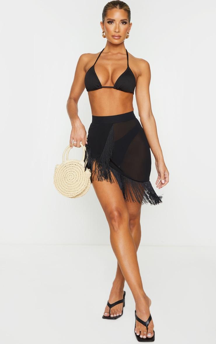Black Tassel Beach Skirt 1