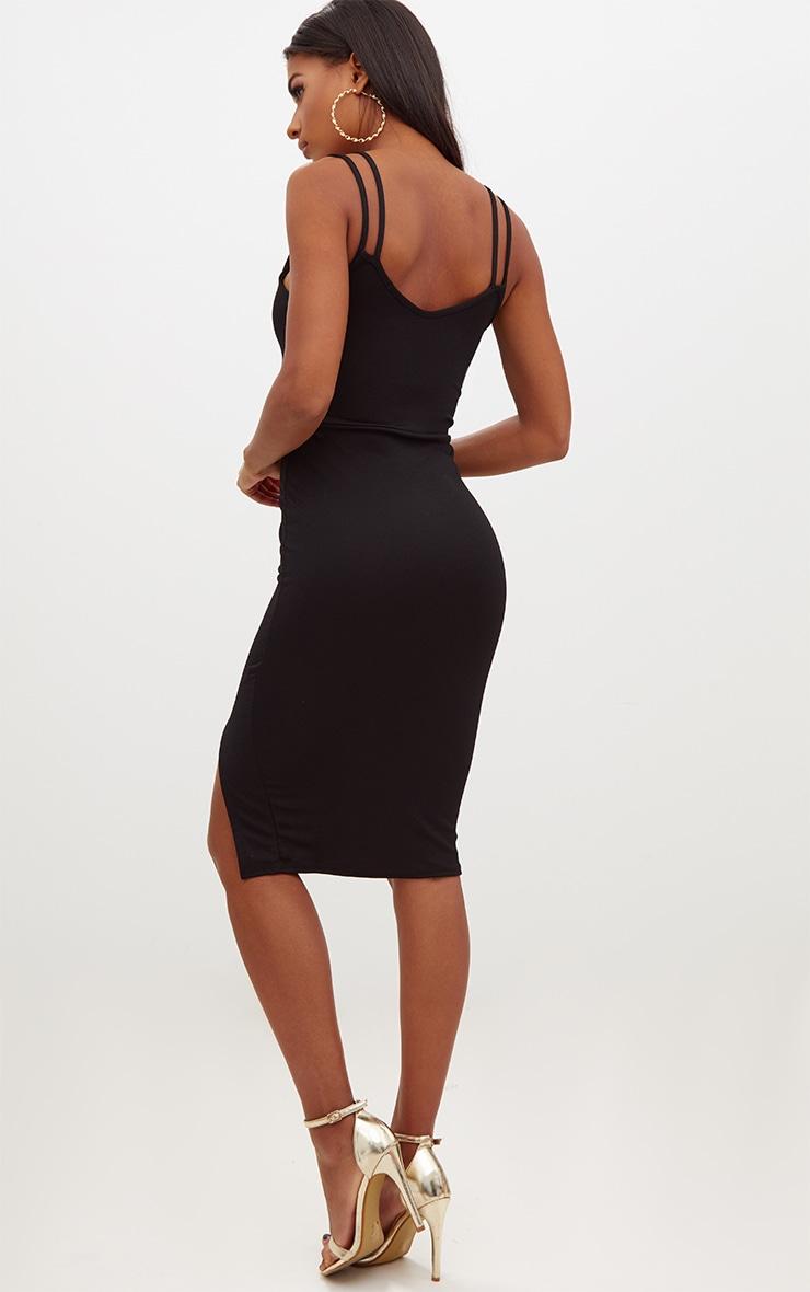 Black Double Strap Midi Dress 2