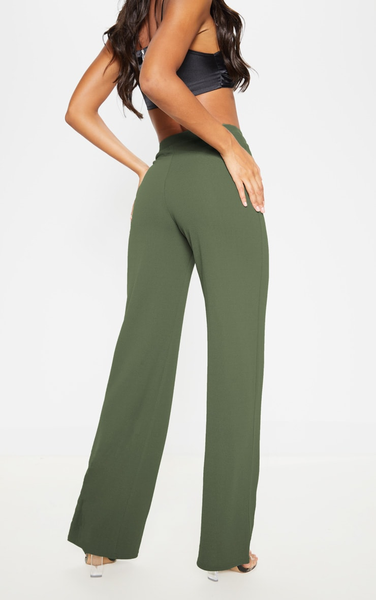 Sage Khaki Wide Leg Pants  4