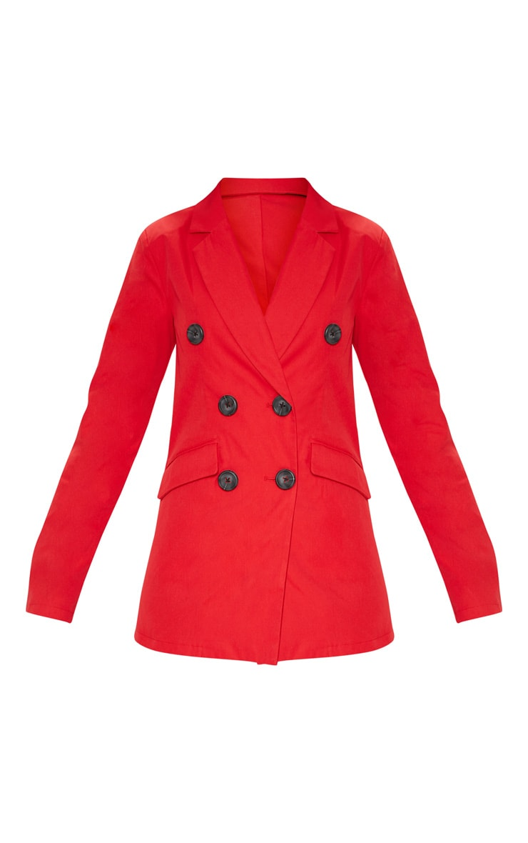 Red Triple Breasted Blazer  3