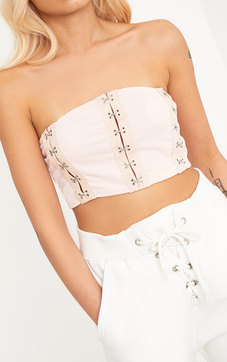 Poppey Nude Hook & Eye Bandeau Crop 5