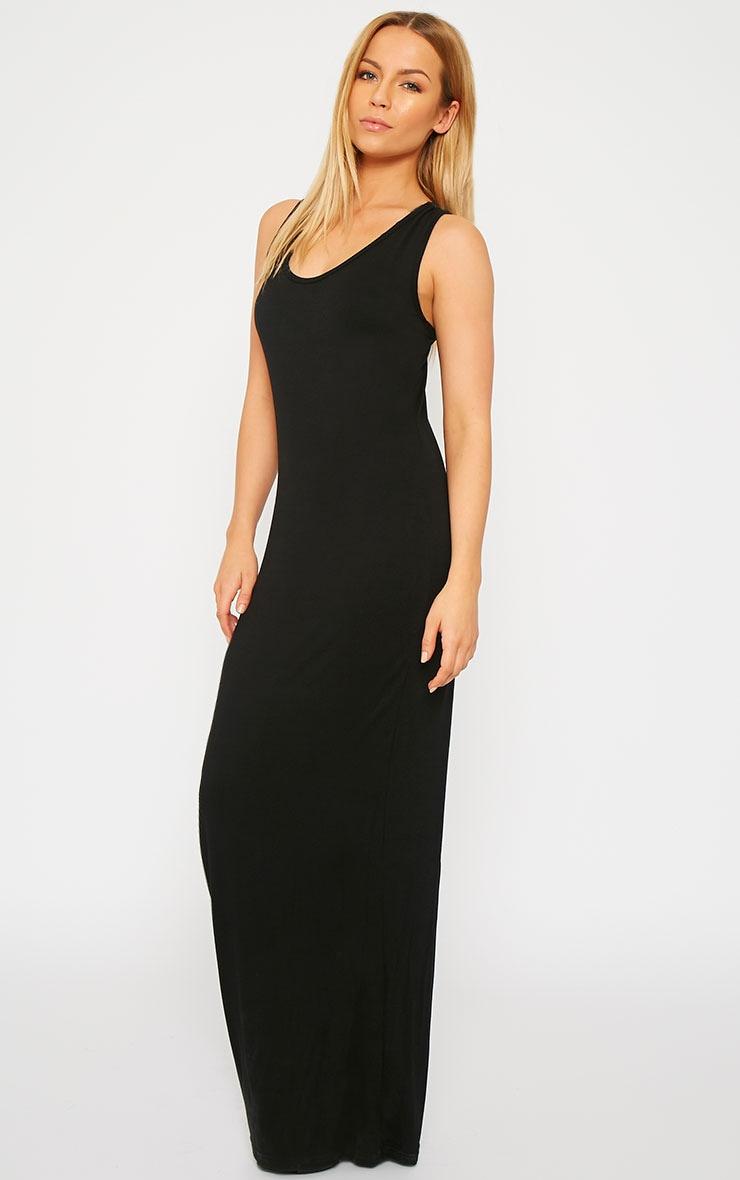 Basic Black Jersey Maxi Dress 1