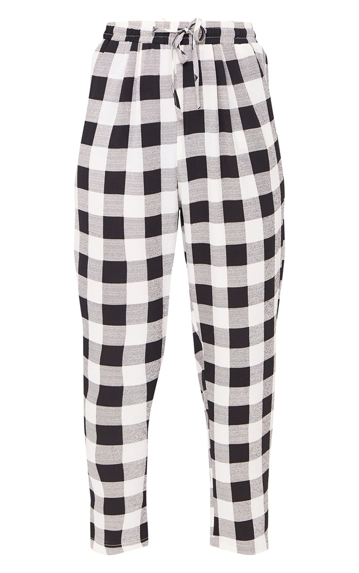 Black Check Casual Trousers 3