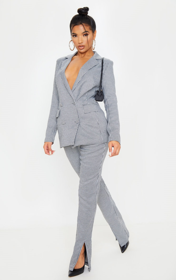 Dogtooth Pocket Front Double Breasted Blazer 4
