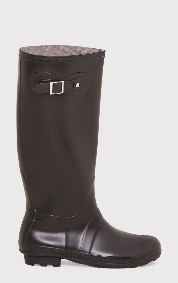 Martina Black Long Rain Boots 2