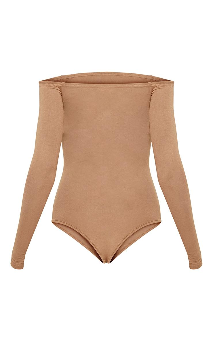 Basic Camel Bardot Bodysuit 4