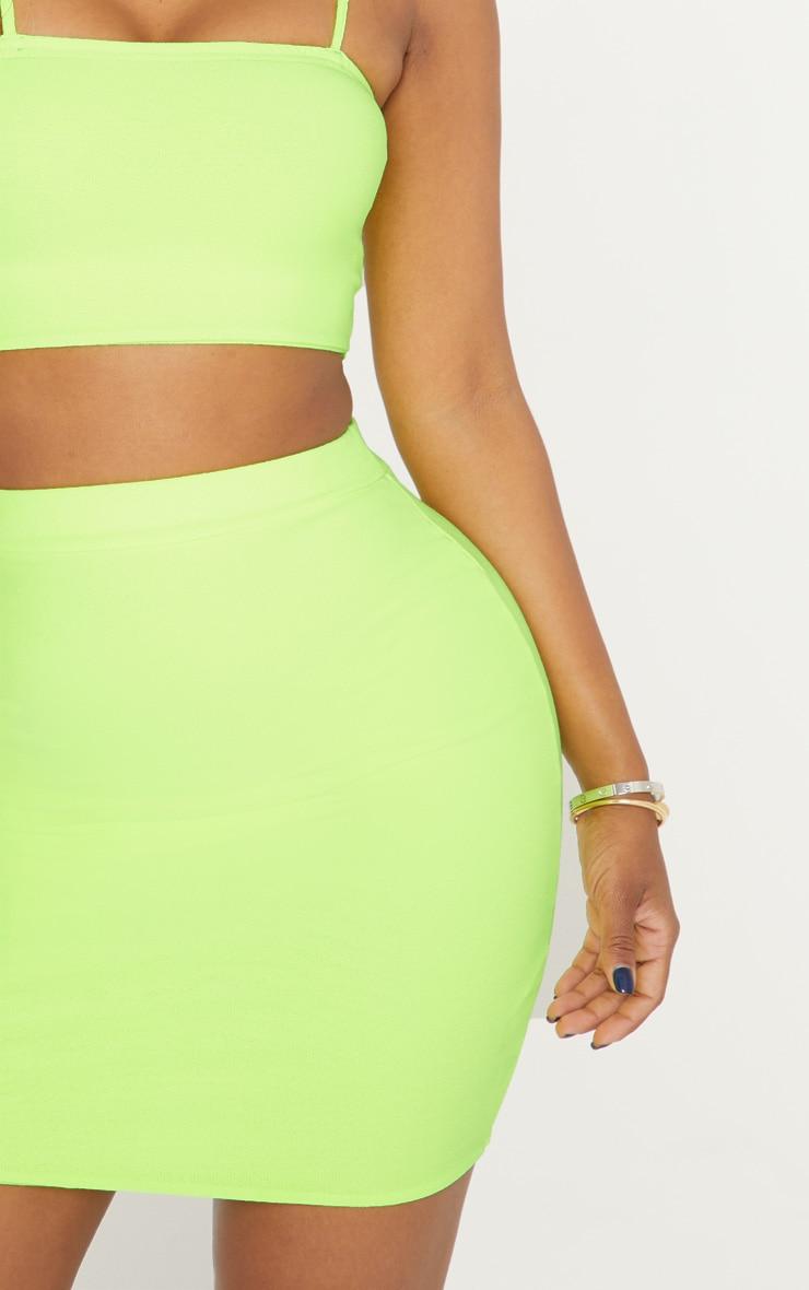 Shape Neon Yellow Bodycon Skirt  6