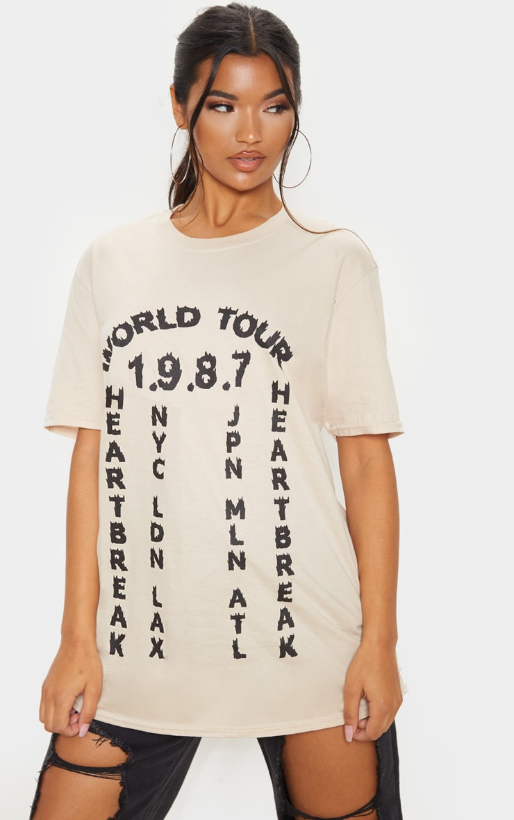 Sand World Tour 1987 Slogan T Shirt 1