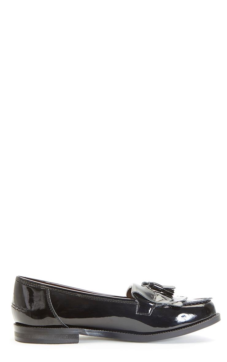 Rita Black Patent Loafer 5