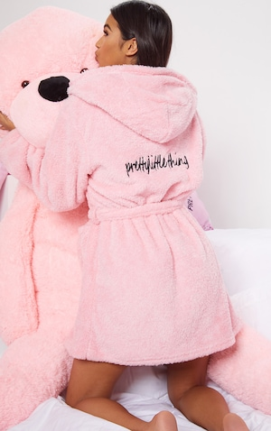 PRETTYLITTLETHING Pink Fluffy Dressing Gown image 3