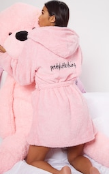 PRETTYLITTLETHING Pink Fluffy Robe 3