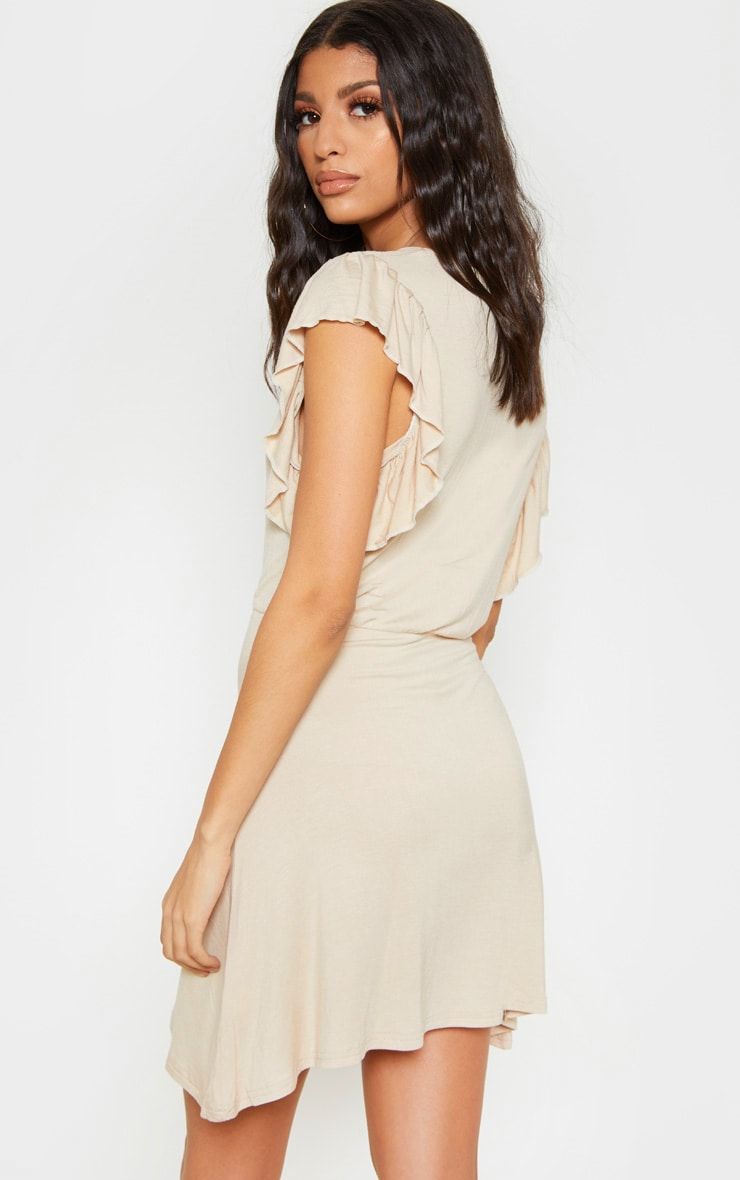 Stone Frill Sleeve Shift Dress 2