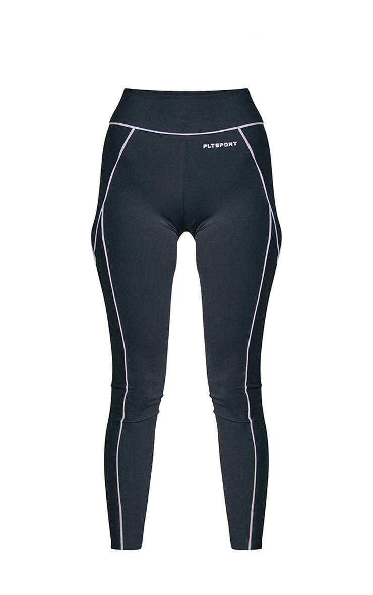 PRETTYLITTLETHING Black Sport Contrast Leggings 5
