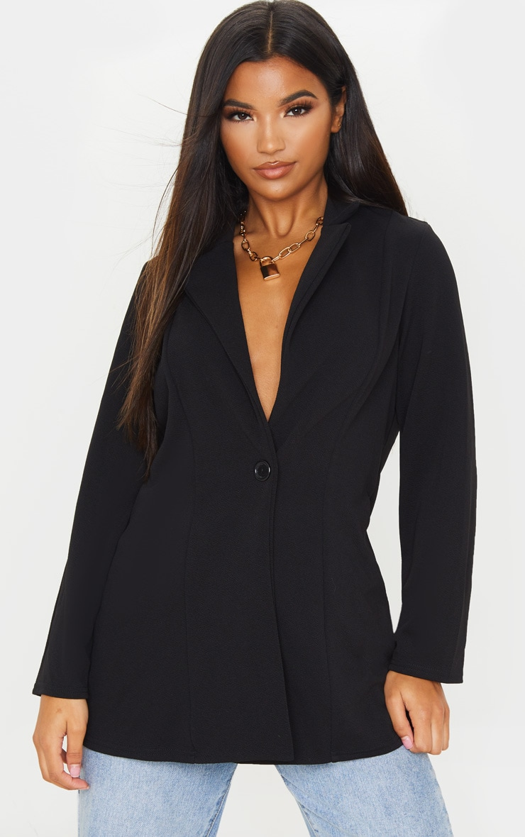 Black Oversized Boyfriend Blazer 1