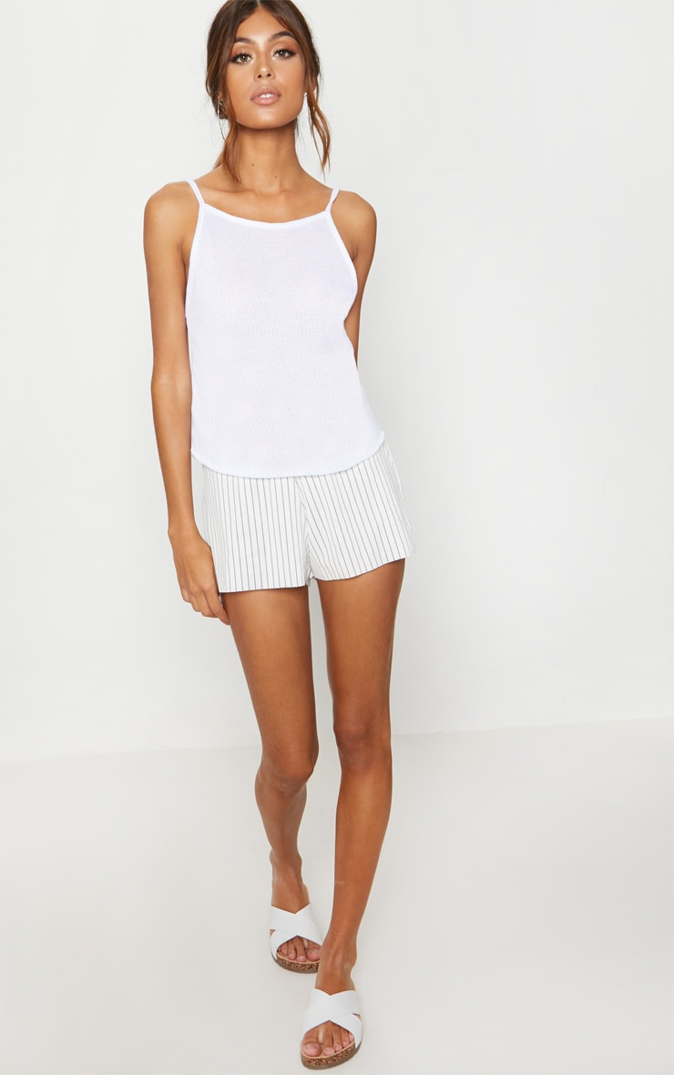 White Lightweight Knit Cami Top 4