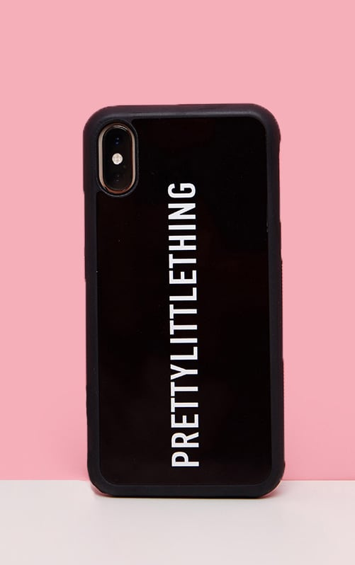 PRETTYLITTLETHING Black Logo 7 Plus iPhone Case 1
