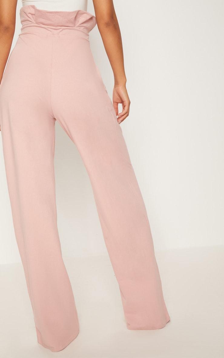 Rose Paperbag Wide Leg Pants 4