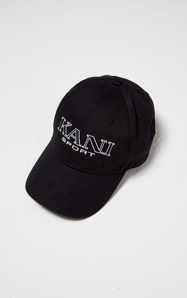 KARL KANI Monochrome Embroidered Baseball Cap 2