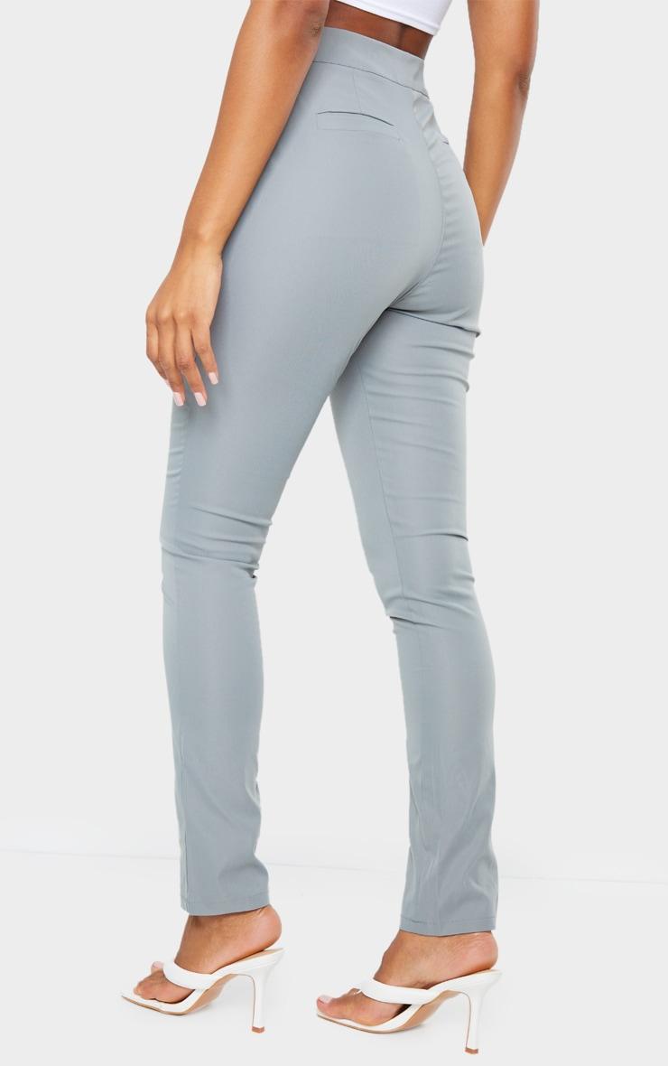 Blue Pocket Detail Skinny Trousers 3
