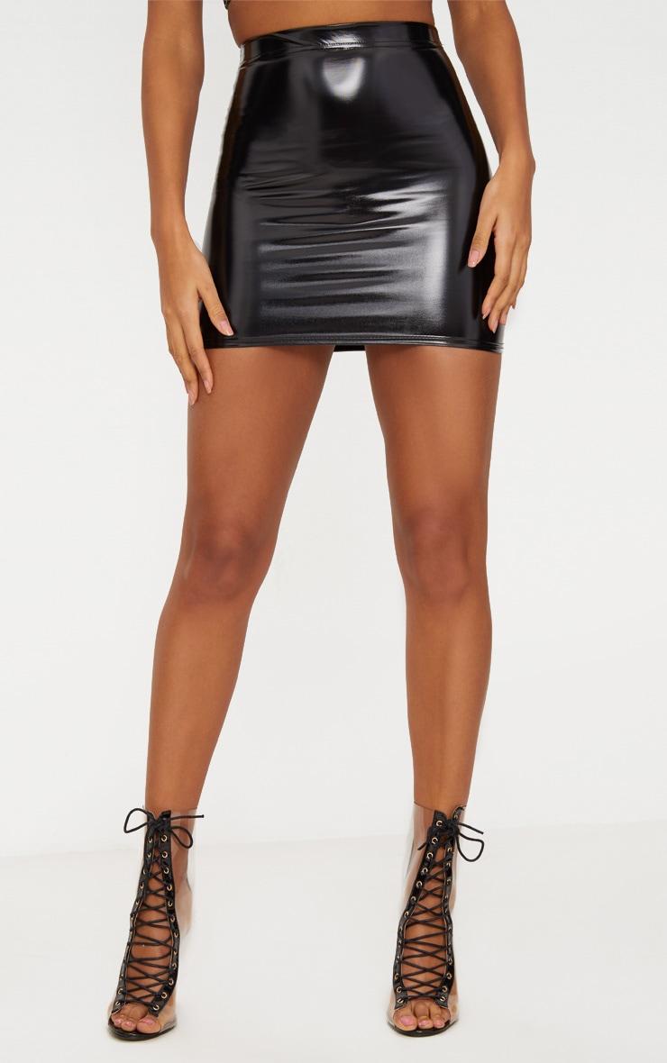 Black Vinyl Skirt 2