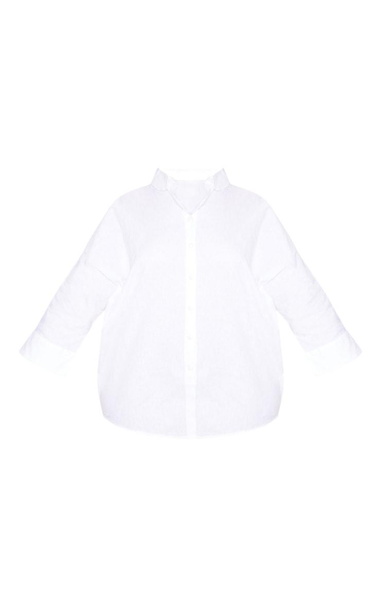 Plus White Oversized Shirt 3
