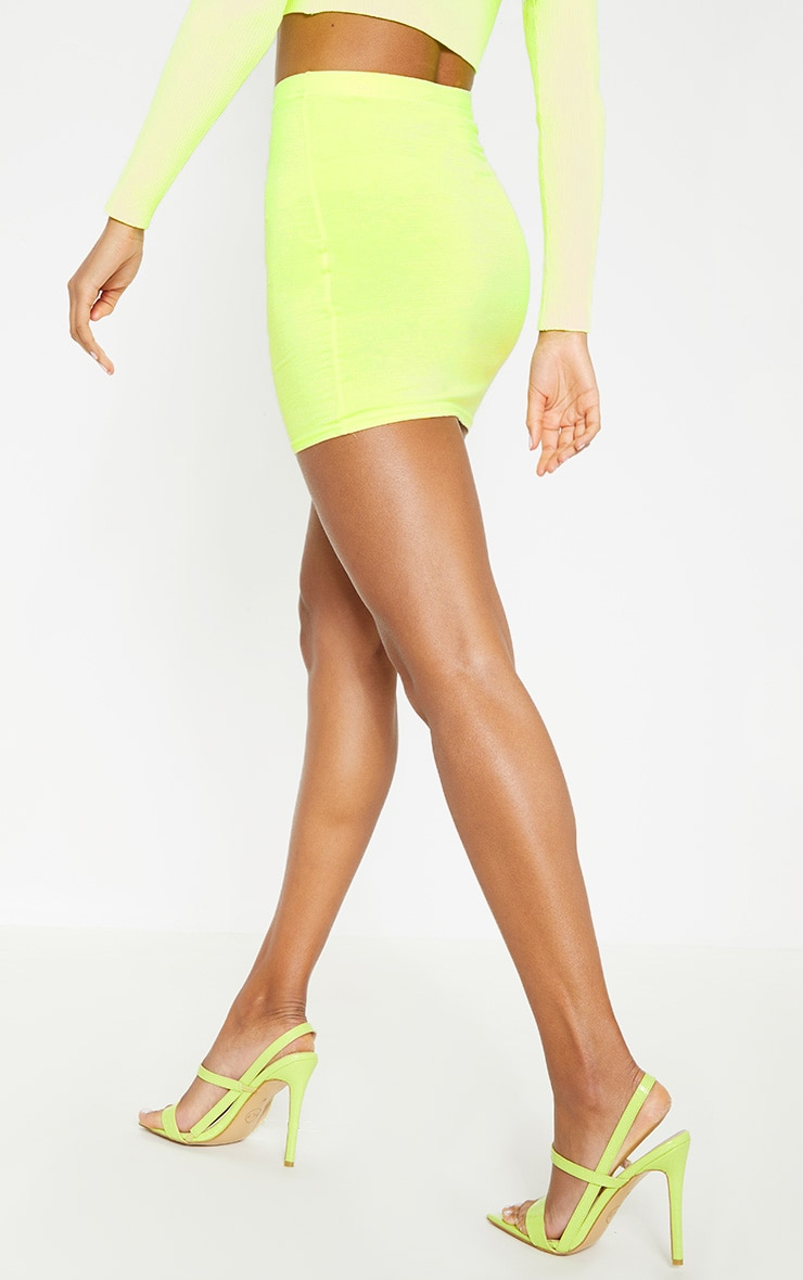 Basic Lime Jersey Mini Skirt 4
