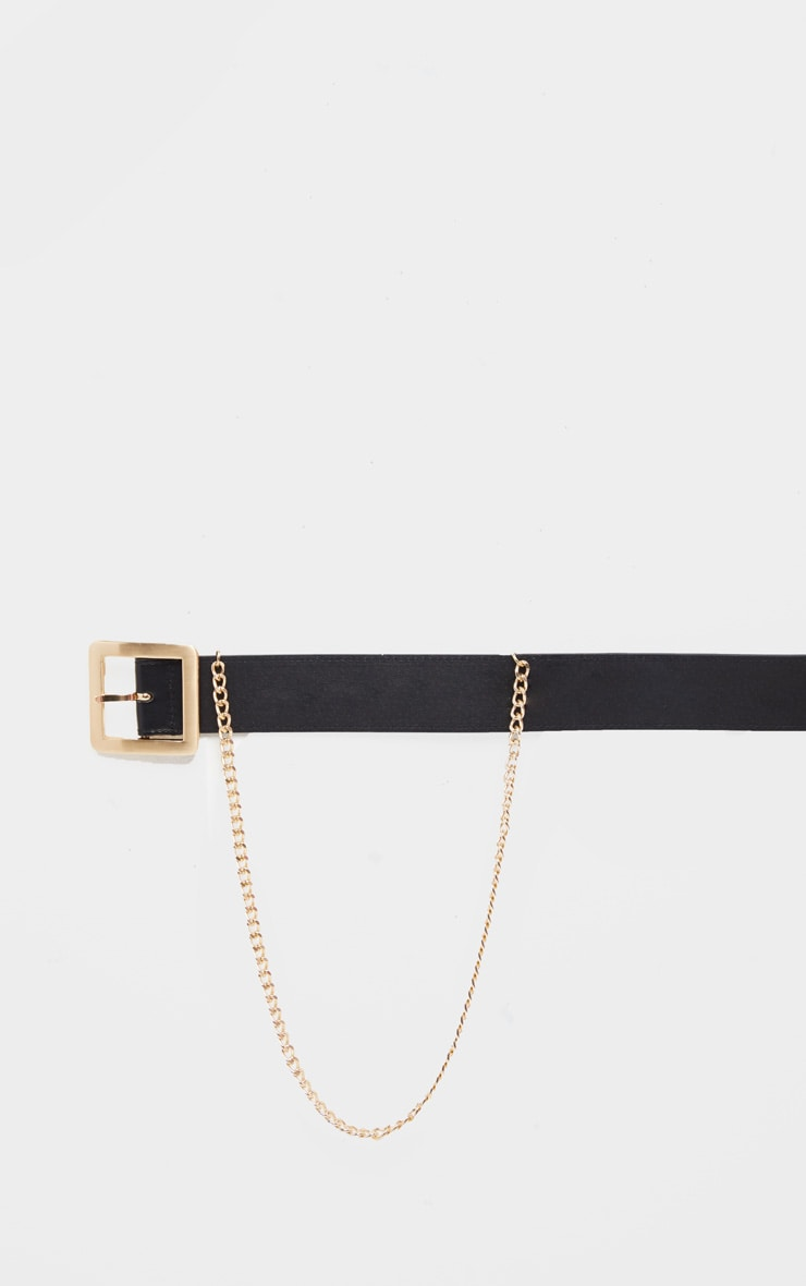 Black Belt With Gold Chain 3
