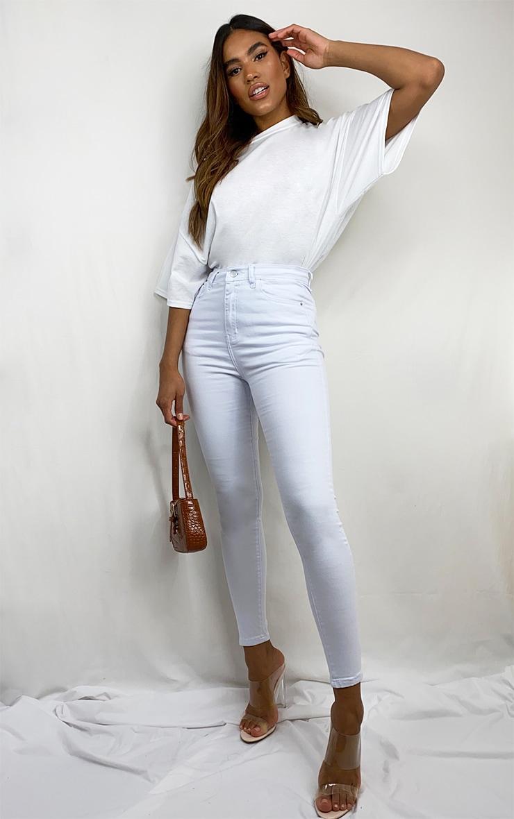 PRETTYLITTLETHING White 5 Pocket Skinny Jeans 1