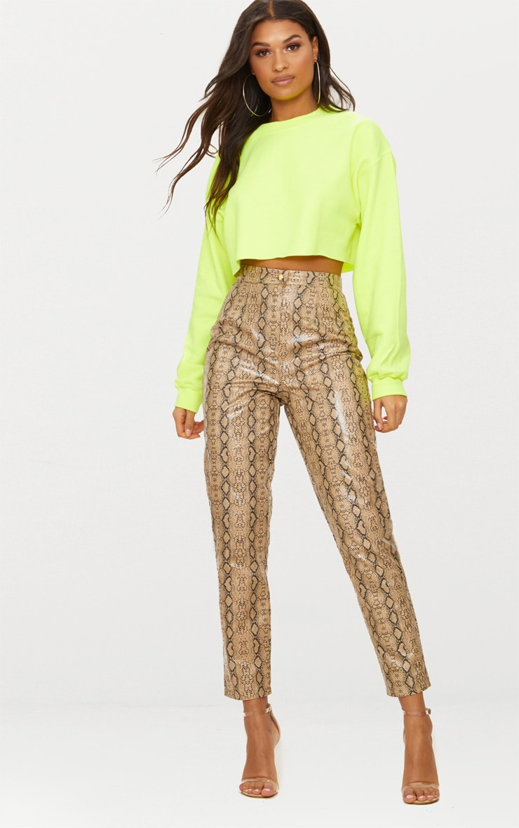 Lime Ultimate Cropped Sweater 3