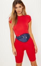 Red Basic Cycle Shorts 1