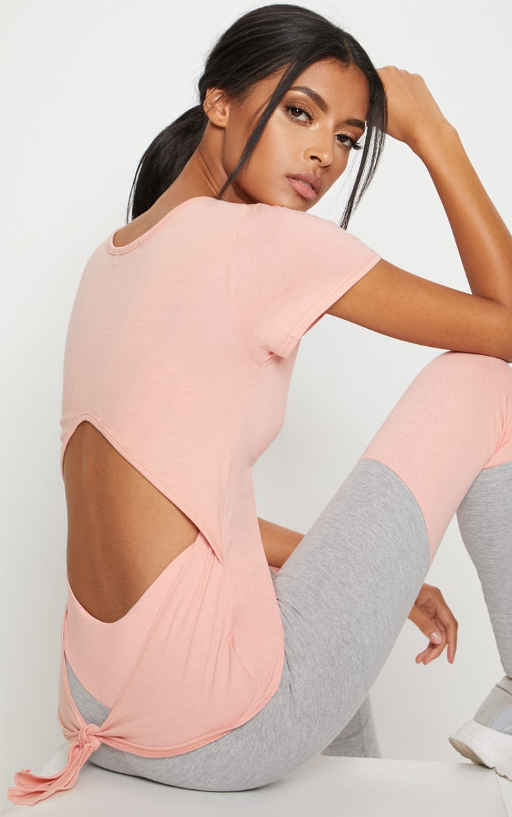 Pink Tie Back T Shirt 3