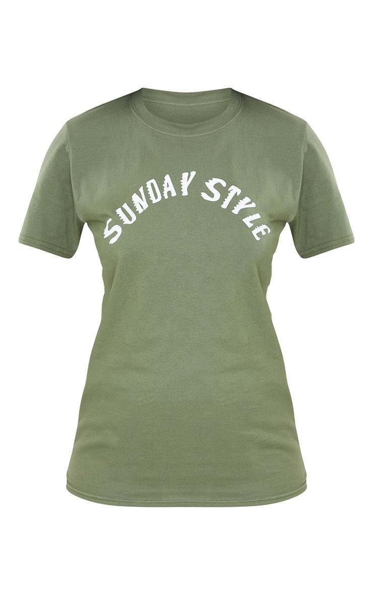 Tall Sage Green Sunday Style T Shirt 5