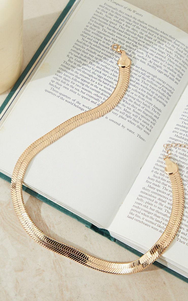 Gold Chunky Snake Chain Necklace 3